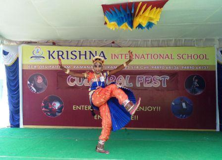 ராமநாதபுரம் கிருஷ்ணா இன்டர்நேஷனல் பள்ளியில் 4ம் ஆண்டு கலைவிழா போட்டி