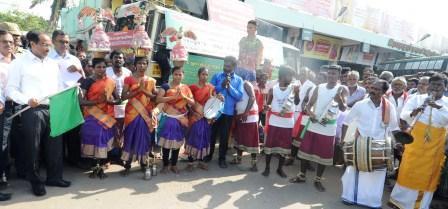 ராமநாதபுரத்தில் மதுபானங்களால் ஏற்படும் தீமைகள்  குறித்த  விழிப்புணர்வு கலைநிகழ்ச்சி