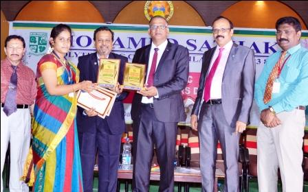 கீழக்கரை முகம்மது சதக் பாலிடெக்னிக் கல்லுாரி சாதனையாளர் விருது வழங்கும் விழா